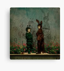 The firefly and the rabbit Canvas Print