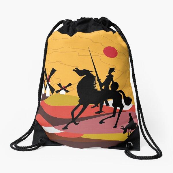 Don Quixote of the Mancha and Sancho Drawstring Bag