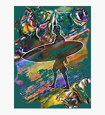 SURF'S UP COLOURFUL SURFER SILHOUETTE Photographic Print