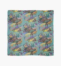 SURF'S UP COLOURFUL SURFER SILHOUETTE Scarf