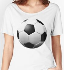 halftone football aka soccer ball Women's Relaxed Fit T-Shirt