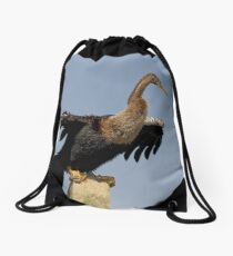 Anhinga Portrait Drawstring Bag