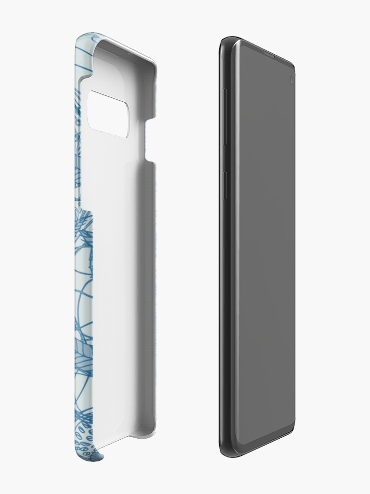 Alternate view of Magic Flowers - blu jeans Case & Skin for Samsung Galaxy