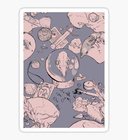 Pagan Pastel Skulls Sticker