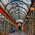 Paris arcade at sunset - distortion study by Victor Pugatschew