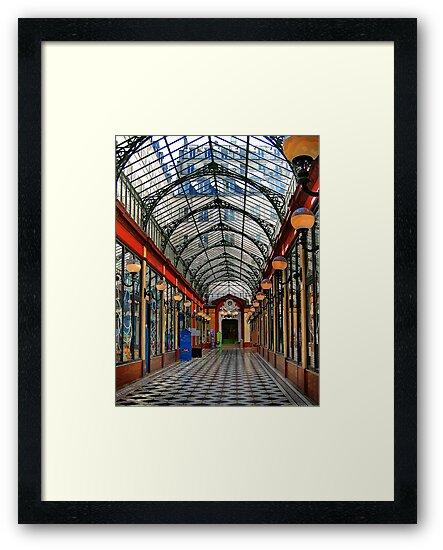 Paris arcade at sunset - distortion study by Victor Pugatschew