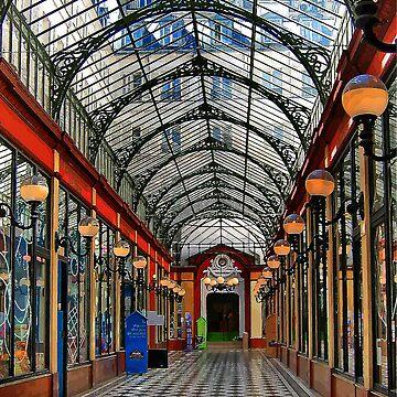 Paris arcade at sunset - distortion study by vicpug