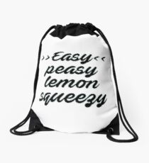 easy peasy  Drawstring Bag