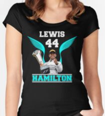 Lewis Hamilton F1 44 Women's Fitted Scoop T-Shirt
