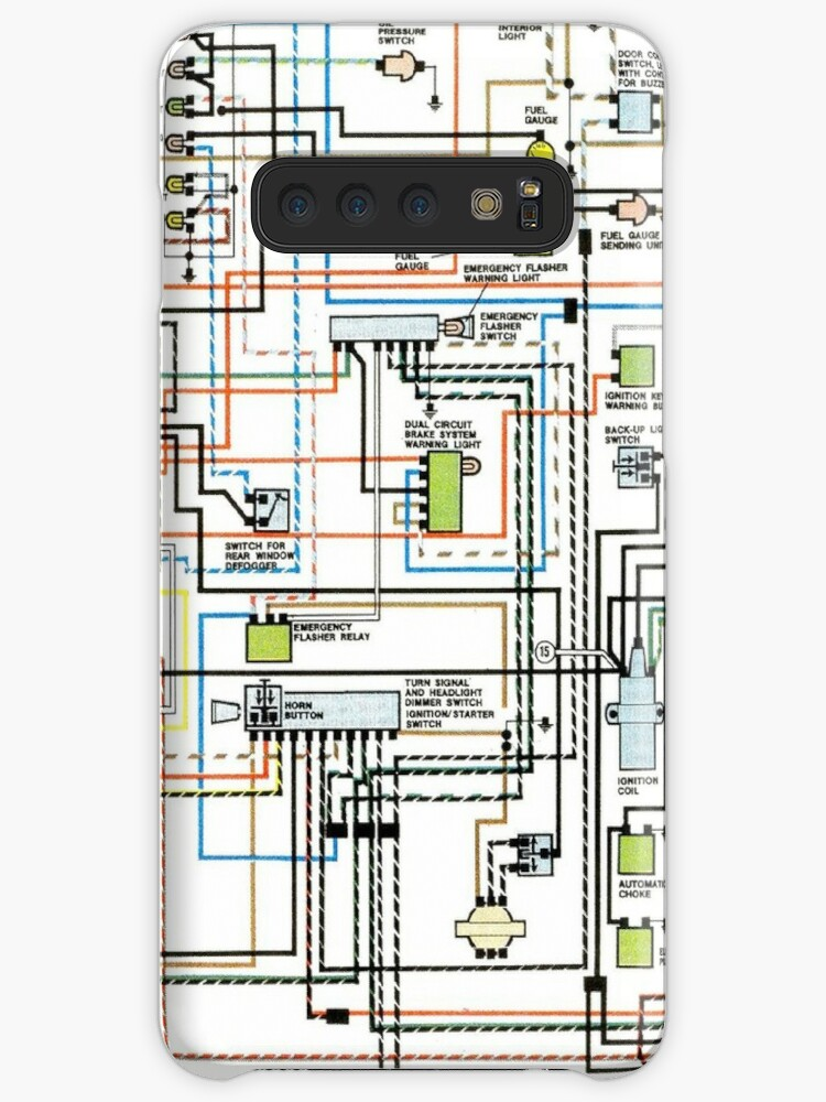 U0026quot 1972 Car Wiring Diagram U0026quot  Cases  U0026 Skins For Samsung Galaxy By Surgedesigns