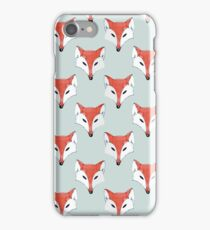 Fox Pattern on Sage  iPhone Case/Skin