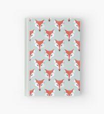 Fox Pattern on Sage  Hardcover Journal