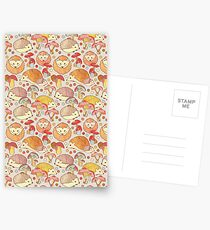 Woodland Hedgehogs - a pattern in soft neutrals  Postcards