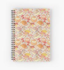 Woodland Hedgehogs - a pattern in soft neutrals  Spiral Notebook