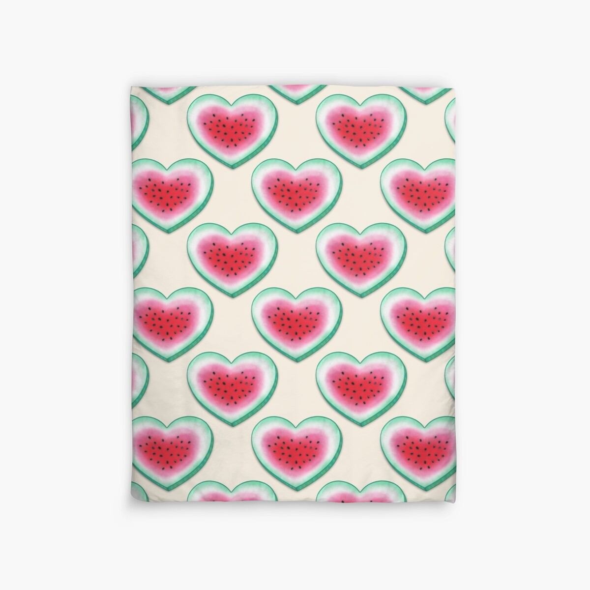 Quot Summer Love Watermelon Heart Quot Duvet Covers By Perrin Le