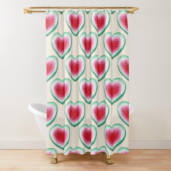 Summer Love - Watermelon Heart Shower Curtain