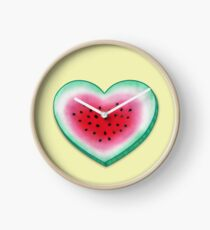 Summer Love - Watermelon Heart Clock