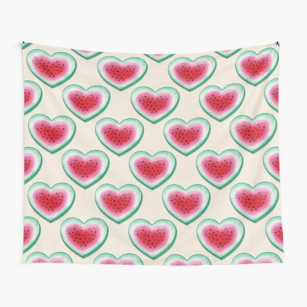Amor de verano - Corazón de sandía Tela decorativa