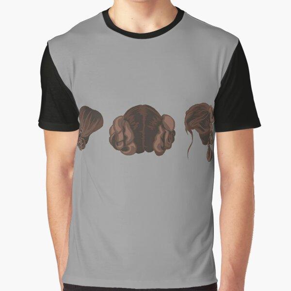 Galatic Heroine Hairstyles Graphic T-Shirt