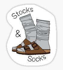 Stocks and Socks Sticker