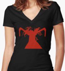 Alucard Inspired Anime Shirt Women's Fitted V-Neck T-Shirt