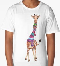 Cold Outside - Cute Giraffe Illustration Long T-Shirt