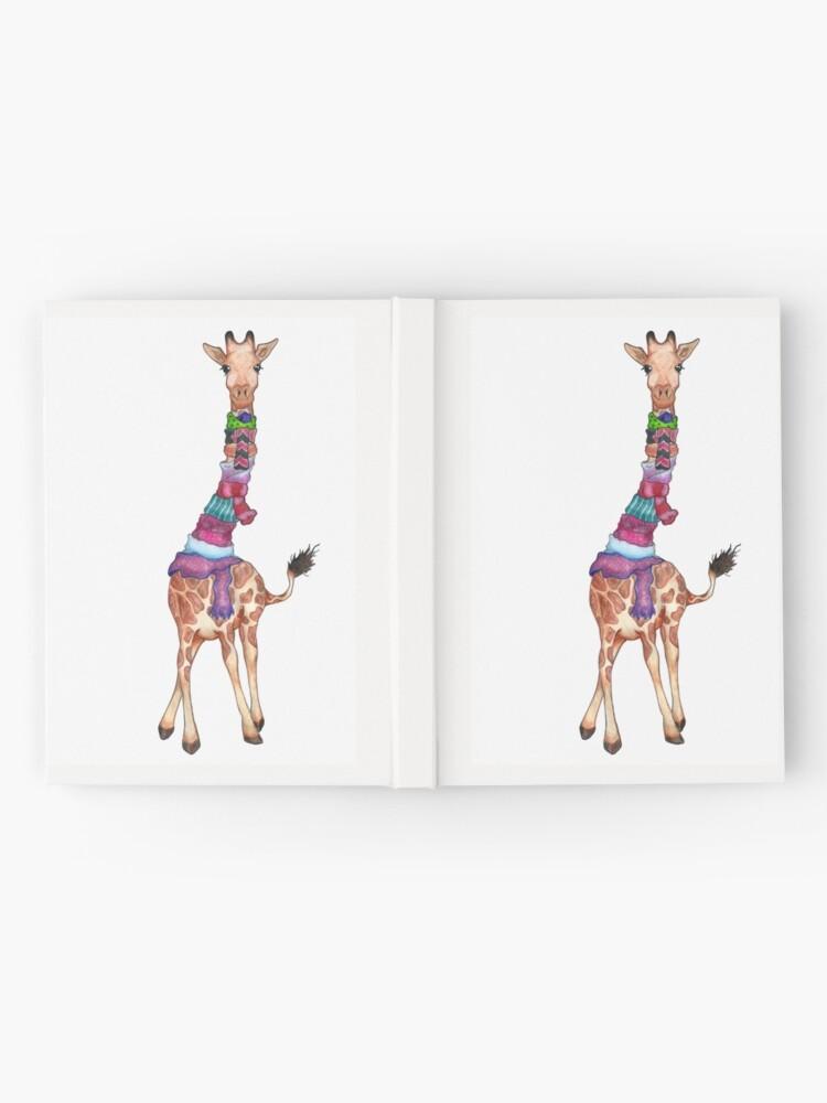 Alternate view of Cold Outside - Cute Giraffe Illustration Hardcover Journal