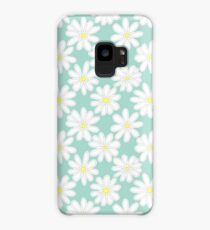 Bright Happy Daisies on Mint Case/Skin for Samsung Galaxy
