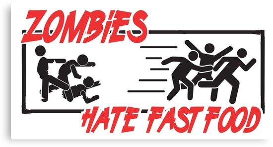 Zombies hate fast food by nektarinchen