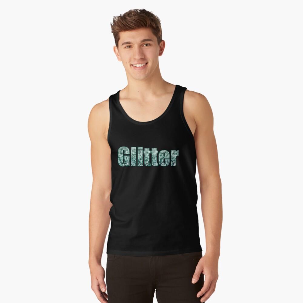 Aqua Glitter Camiseta de tirantes
