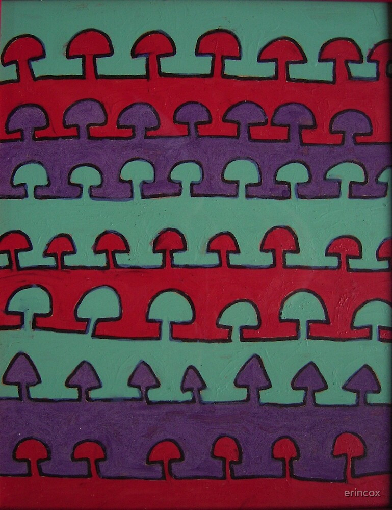 Lines of shrooms by erincox