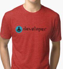 developer zen blue Tri-blend T-Shirt