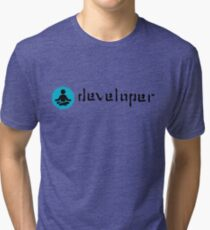 developer zen blue Tri-blend T-Shirt