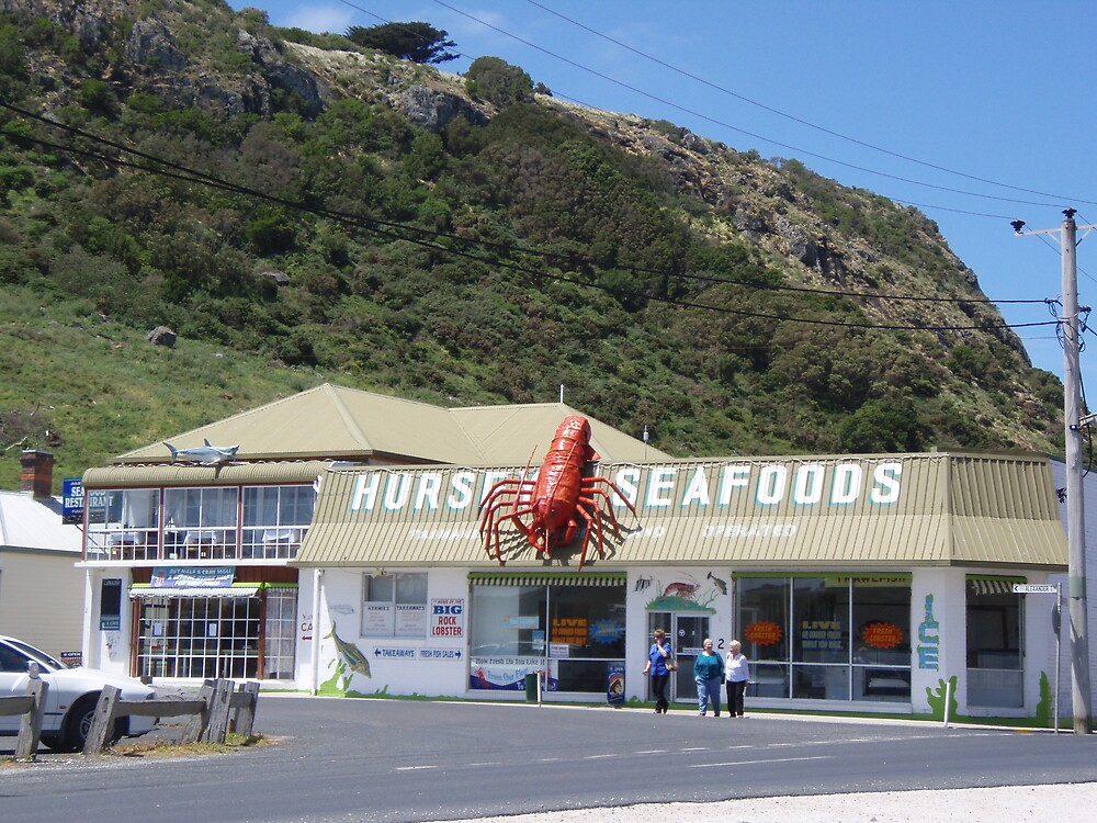 fish and chips             - store at the base of the Nut, Stanley, Tasmania by gaylene