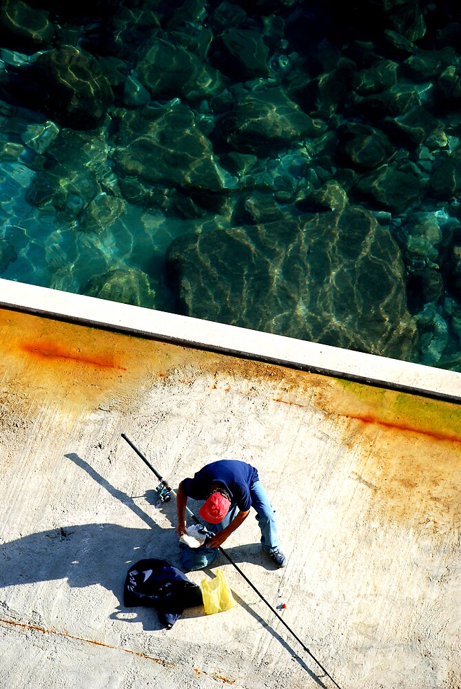 Positano Fisherman by simonday