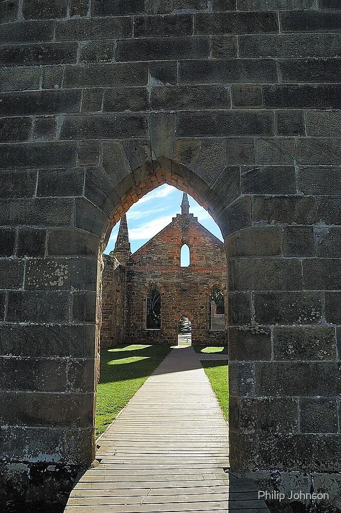 Inside Looking Out - Port Arthur Historic Site, Tasmania Australia by Philip Johnson