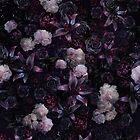 Midsummer Nights Dream #Dark Floral #Midnight #Black #Rose #Night by ANTHROPOLESLEY