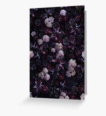 Midsummer Nights Dream #Dark Floral #Midnight #Black #Rose #Night Greeting Card
