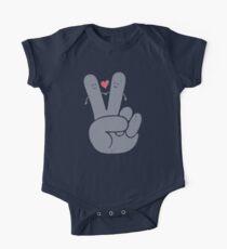 Frieden Liebe Baby Body Kurzarm
