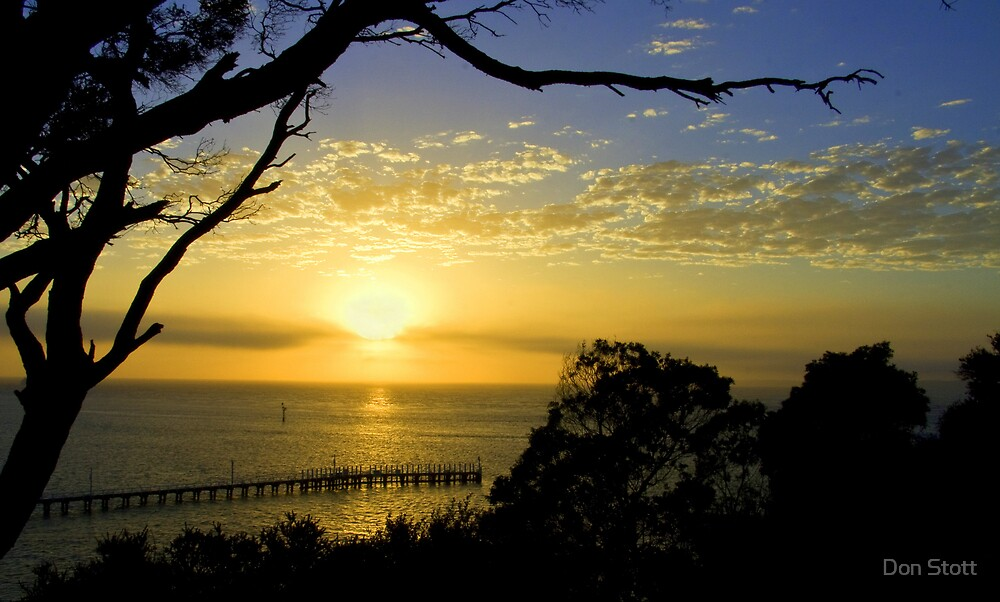 Queenscliff at dawn by Don Stott