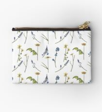 Flower Variety - Blue and Yellow Studio Pouch