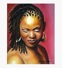 Lady with braids Photographic Print