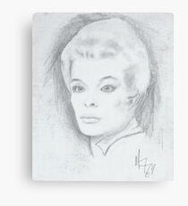 older woman Canvas Print
