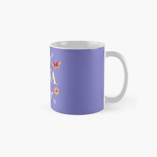 BEST NANA EVER! Pretty flowers and happy butterflies. Classic Mug