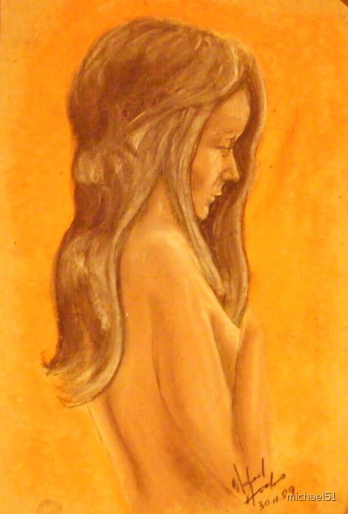 young girl study by michael51