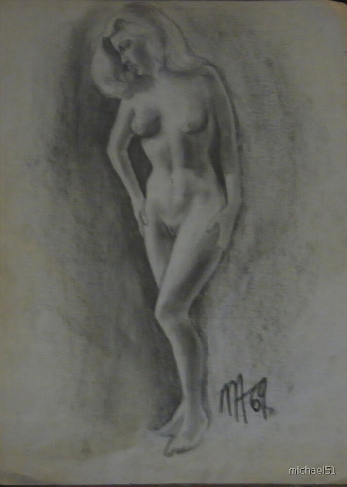 standing nude study by michael51