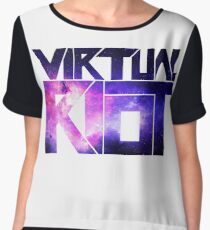 Virtual Riot Logo Space Chiffon Top