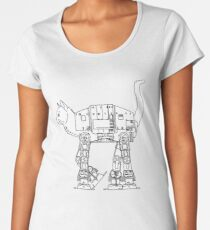 Star Wars - Cat-Cat Imperal Walker Women's Premium T-Shirt