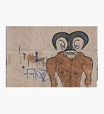 The Minotaur - Street art Photographic Print