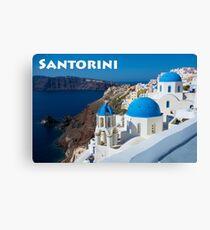 Beautiful Santorini Canvas Print
